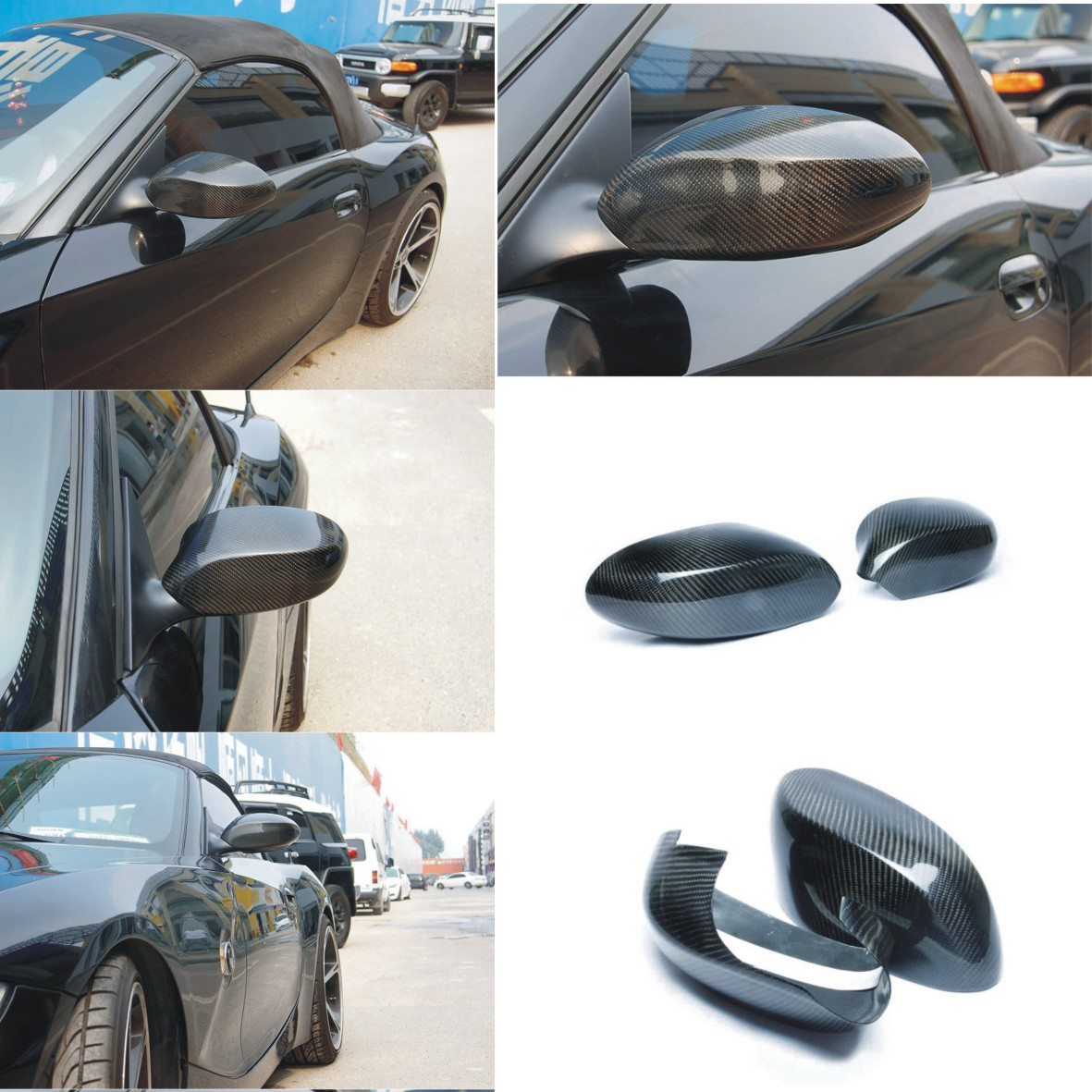 Bmw Z4 For Sale In Uk: Real CARBON Mirror Cover For BMW Z4 Z4M Coupe E85 Roadster